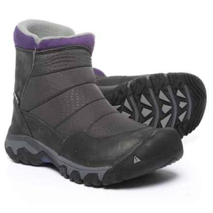 Keen Hoodoo III Zip Snow Boots - Waterproof, Insulated (For Women) in Earl Grey/Purple Plumeria - Closeouts