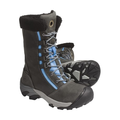 Keen Hoodoo Winter Boots - Waterproof, Insulated (For Women) in Gargoyle/Azure Blue