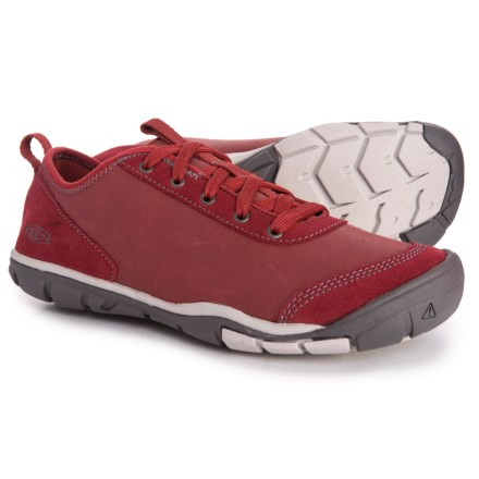 d7ba4f2d556 Keen Hush Leather CNX Sneakers (For Women) in Bike Red - Closeouts