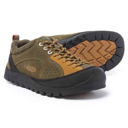 Keen Jasper Rocks Shoes - Suede (For Men) in Military Olive/Cathay Spice - Closeouts
