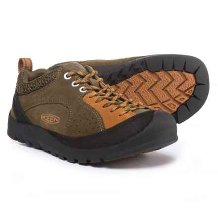 Keen Jasper Rocks Shoes - Suede (For Women) in Military Olive/Cathay Spice - Closeouts
