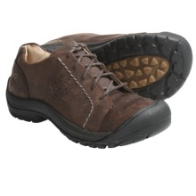 Keen Kaci Lace-Up Shoes - Leather (For Women) in Potting Soil - Closeouts