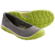 Keen Kanga Ballerina Shoes (For Women) in Gargoyle/Bright Chartreuse - Closeouts