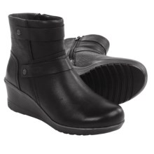 Keen Kate Mid Ankle Boots - Leather, Wedge Heel (For Women) in Black - Closeouts