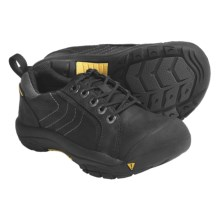 Keen Kelowna Lace Shoes - Waterproof, Nubuck (For Kids and Youth) in Black - Closeouts