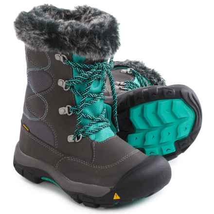 Keen Kelsey Snow Boots - Waterproof, Insulated (For Little and Big Kids) in Magnet/Lagoon - Closeouts