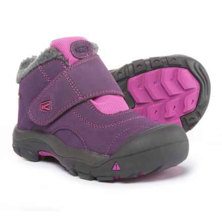 Keen Kootenay WP Boots - Waterproof, Leather (For Girls) in Wineberry/Dahlia Mauve - Closeouts