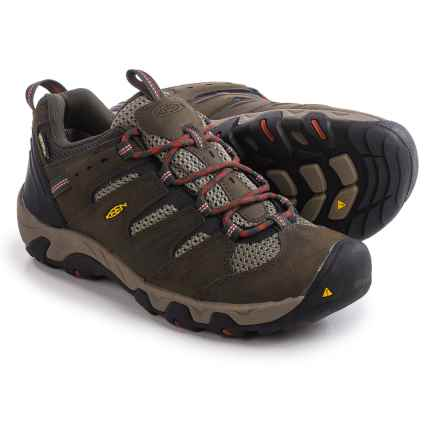 Keen Koven Hiking Shoes - Waterproof, Leather (For Men) in Black Olive/Bossa Nova - Closeouts