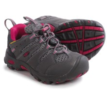 Keen Koven Low Light Hiking Shoes - Waterproof (For Toddlers) in Magnet/Cerise - Closeouts