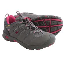 Keen Koven Low Trail Shoes - Waterproof (For Little and Big Kids) in Magnet/Cerise - Closeouts
