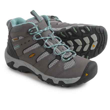 Keen Koven Mid Hiking Boots - Waterproof (For Women) in Gargoyle/Mineral Blue - Closeouts