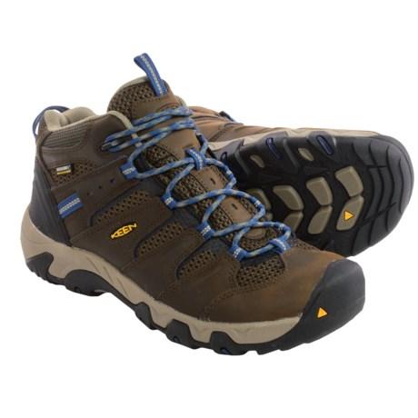 Brown Ensign Blue Koven Waterproof Leather Hiking Shoe Men