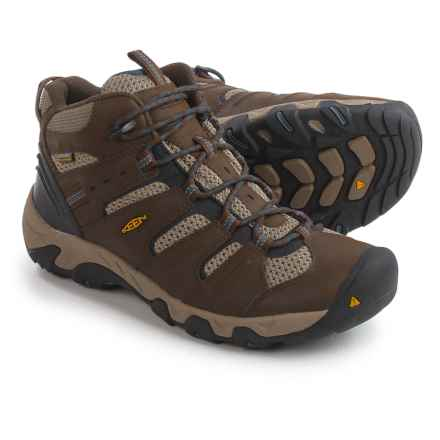 Keen Koven Mid Hiking Boots - Waterproof, Leather (For Men) in Cascade Brown/Midnight Navy - Closeouts