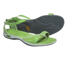 Keen La Paz Wrap Sandals (For Women) in Jade Green/Drizzle - Closeouts