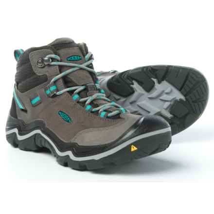 Keen Laurel Mid Hiking Boots - Waterproof (For Women) in Steel Grey/Baltic - Closeouts