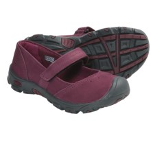 Keen Libby Mary Jane Shoes - Nubuck (For Kid Girls) in Tawny Port - Closeouts