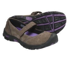 Keen Libby Mary Jane Shoes - Nubuck (For Youth Girls) in Slate Black/Purple Heart - Closeouts
