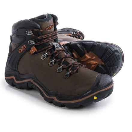 Keen Liberty Ridge Hiking Boots - Waterproof, Leather (For Men) in Bison/Gingerbread - Closeouts