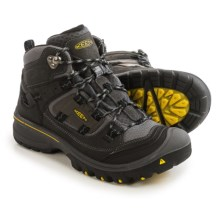 Keen Logan Mid Hiking Boots - Waterproof, Leather (For Men) in Black/Spectra Yellow - Closeouts