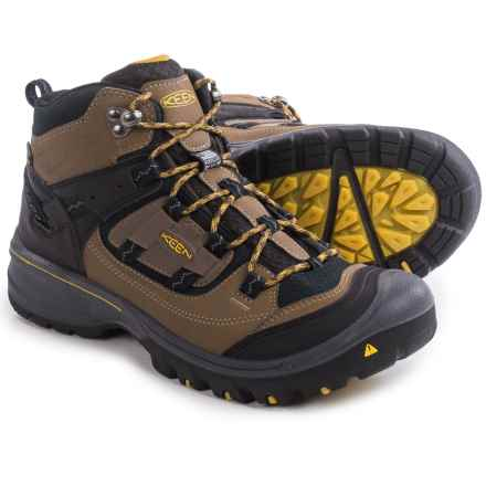 Keen Logan Mid Hiking Boots - Waterproof, Leather (For Men) in Dark Earth/Tawny Olive - Closeouts