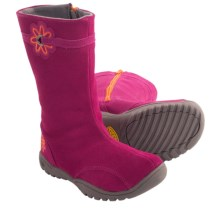 Keen Luna Boots - Suede (For Little Girls) in Raspberry Radiance/Persimmon - Closeouts