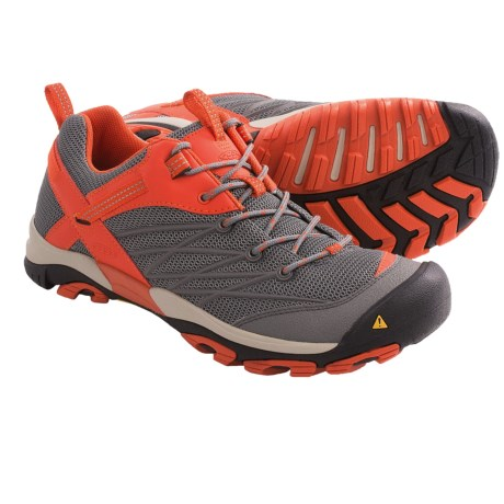 Keen Marshall Hiking Shoes (For Men) in Gargoyle/Spicy Orange