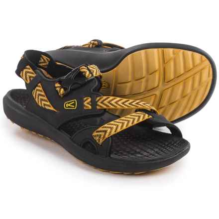 Keen Maupin Sport Sandals (For Men) in Black/Golden Yellow - Closeouts
