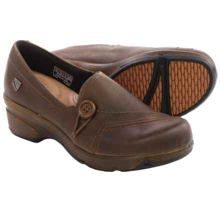 Keen Mora Button Shoes - Leather, Slip-Ons (For Women) in Cascade Brown - Closeouts