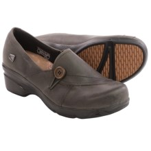 Keen Mora Button Shoes - Leather, Slip-Ons (For Women) in Magnet - Closeouts