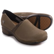Keen Mora Clogs - Leather (For Women) in Brindle - Closeouts