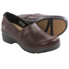 Keen Mora Clogs - Leather (For Women) in Flame - Closeouts