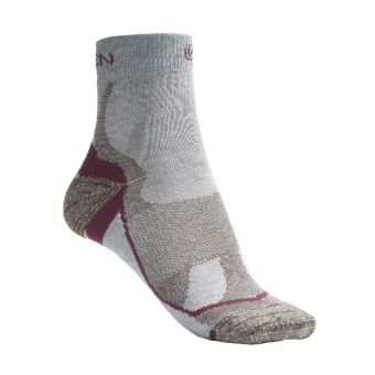 Keen Mt. Airy Lite Socks - Dri-Release®, FreshGuard®, Quarter-Crew (For Women) in Natural/Dark Earth
