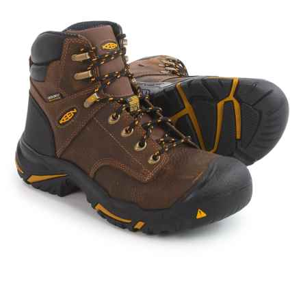"Keen Mt. Vernon 6"" Hiking Boots - Waterproof, Leather, Factory 2nds (For Men) in Cascade Brown - Closeouts"