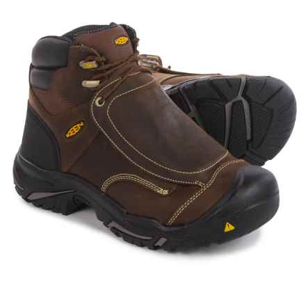 Keen Mt. Vernon Met Work Boots - Steel Safety Toe (For Men) in Cascade Brown - 2nds