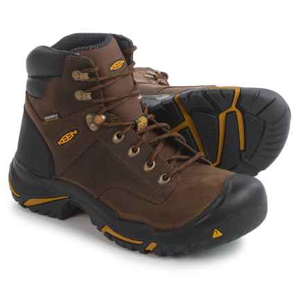 "Keen Mt. Vernon Mid 6"" Work Boots - Waterproof, Leather, Factory 2nds (For Men) in Cascade Brown - 2nds"