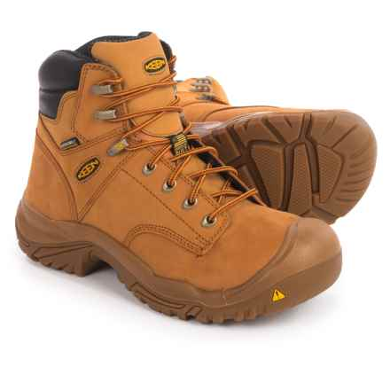 Keen Mt. Vernon Mid Work Boots - Steel Safety Toe, Waterproof, Nubuck (For Men) in Wheat - 2nds