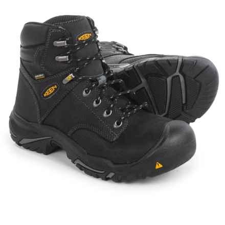 Keen Mt. Vernon Mid Work Boots - Waterproof, Nubuck, Steel Toe (For Men) in Black - 2nds