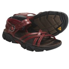 Keen Naples Sandals - Leather (For Women) in Biking Red - Closeouts