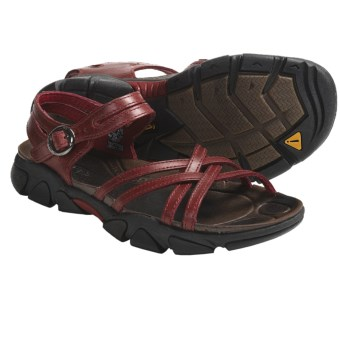 Keen Naples Sandals - Leather (For Women) in Biking Red