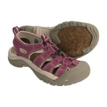 Keen Newport Canvas Sport Sandals (For Women) in Amaranth/Nile - Closeouts