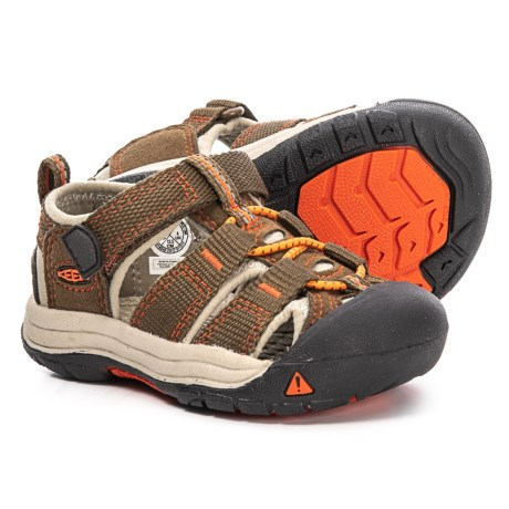 6867e9756d Keen Newport H2 Sandals (For Toddlers) in Dark Earth/Spicy Orange