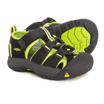 071d048dd519 Keen Newport H2 Sport Sandals (For Toddler Boys) in Black Lime Green -