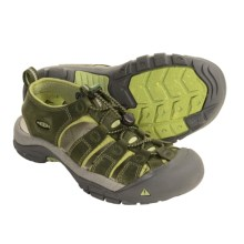 Keen Newport Nubuck Sandals (For Women) in Bronze Green/Nile - Closeouts