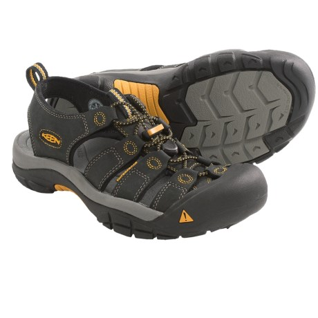 Keen Newport Sport Sandals  (For Men) in Black/Golden Glow