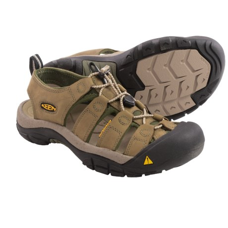 Keen Newport Sport Sandals  (For Men) in Khaki/Forest Night
