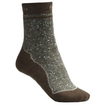 Keen Nome Crew Socks - Merino Wool, Midweight (For Women) in Eucalyptus/Dark Earth