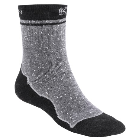 Keen Nome Mid Socks - 3/4-Crew, Merino Wool (For Men) in Light Grey/Grey/Charcoal