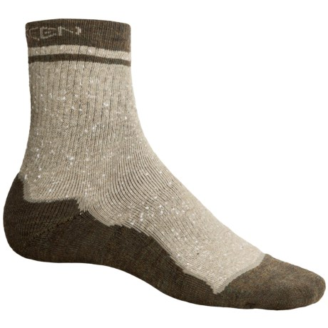 Keen Nome Mid Socks - 3/4-Crew, Merino Wool (For Men) in Sandstone/Mink/Loden