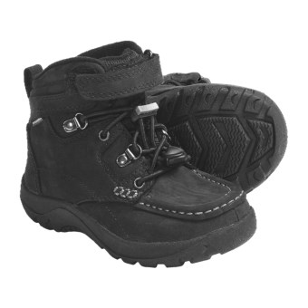 Keen Nopo Mid Boots - Waterproof, Nubuck (For Kids) in Black
