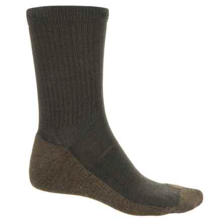 Keen North Country Lite Socks - Merino Wool, Crew (For Men) in Black Olive/Lode - Closeouts